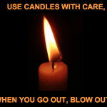 candle safety - fire caution