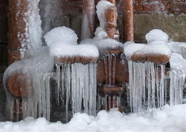 Frozen Pipes Gas Meter